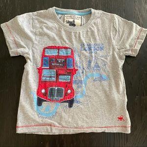 Monsoon London UK red bus tshirt 5-6